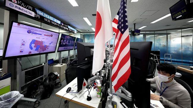 Indeks utama Nikkei Tokyo mencapai level tertinggi sejak 1991 pada penutupan, Jumat (6/11).