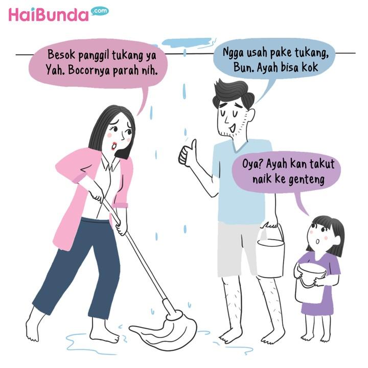 Komik Bunda Genteng Bocor