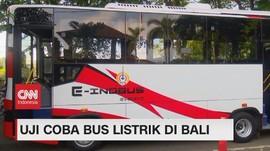 VIDEO: Uji Coba Bus Listrik di Bali