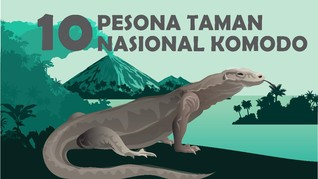 INFOGRAFIS: Pesona Taman Nasional Komodo