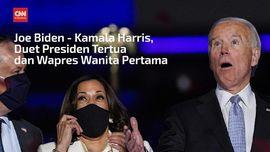 VIDEO: Biden-Harris, Presiden Tertua-Wapres Wanita Pertama