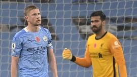 FOTO: Man City vs Liverpool Sama Kuat di Liga Inggris