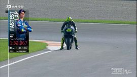 VIDEO: Momen Valentino Rossi Gagal Finis di MotoGP Eropa