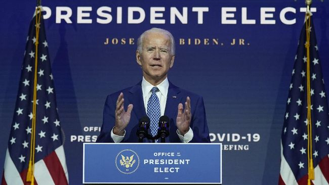 Presiden terpilih Joe Biden mengungkap rencana paket stimulus yang dirancang untuk memulihkan perekonomian AS sebesar US$1,5 triliun.