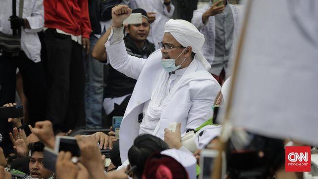 Petinggi FPI Rizieq Shihab akan diperiksa sebagai saksi terkait kerumunan massa di Petamburan, Jakarta Pusat.