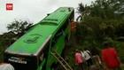 VIDEO: Bus Rombongan Peziarah Terjun Ke Jurang, 34 Orang Luka