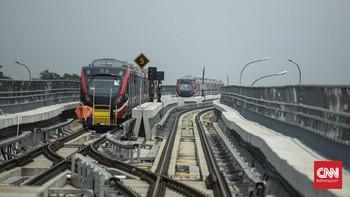Kereta LRT Jabodetabek Tabrakan di Jalur Layang Cibubur