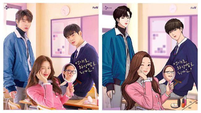 Moon Ga-young akan kembali ke layar kaca dan beradu peran dengan Cha Eun-woo dalam drama drama komedi romansa remaja bertajuk True Beauty.