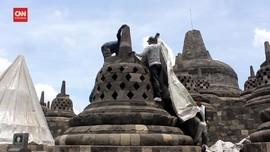 VIDEO: Hindari Abu Vulkanik Merapi, Stupa Borobudur Ditutup