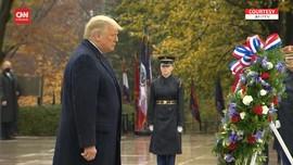 VIDEO: Kemunculan Kembali Trump Usai Pilpes di Hari Veteran