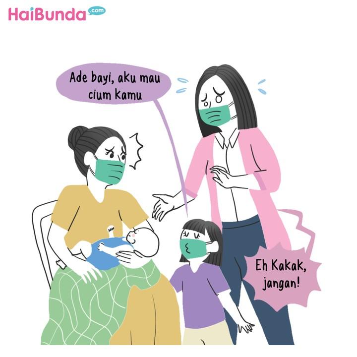 Komik Kakak Nggak Boleh Cium Ade Bayi