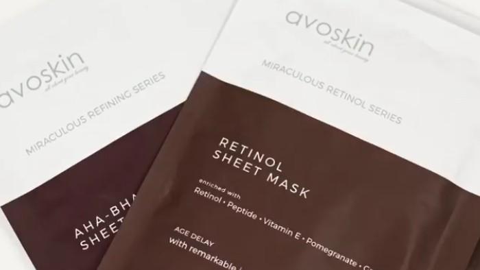 Avoskin Rilis Sheet Mask Retinol dan AHA BHA PHA untuk Anti Aging