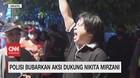 VIDEO: Polisi Bubarkan Aksi Dukung Nikita Mirzani