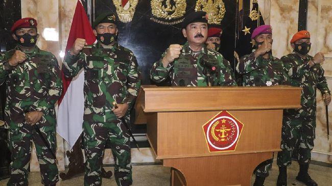 Dari 50 perwira tinggi yang dimutasi, sebanyak 30 Pati berasal dari TNI AD, 16 Pati dari TNI AL dan empat Pati di TNI AU.