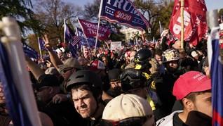 FOTO : Ribuan Pendukung Trump Demo Tolak Hasil Pemilu