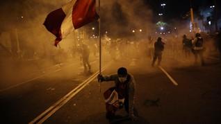 FOTO: Demo Ricuh Warnai Kemunduran Presiden Baru Peru