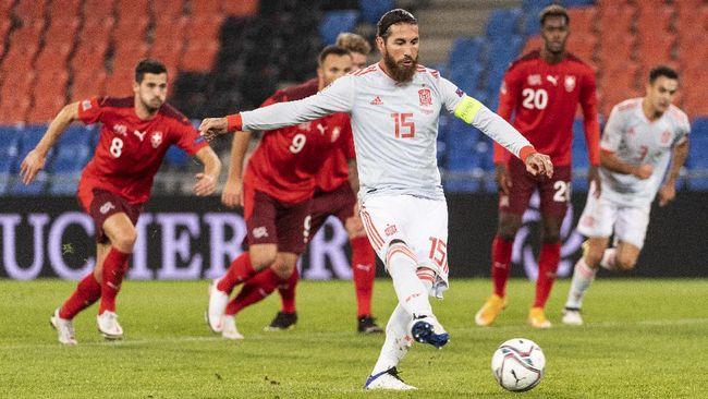 Kapten timnas Spanyol Sergio Ramos tidak masuk skuad Spanyol untuk Piala Eropa Euro 2020 setelah dicoret Luis Enrique.