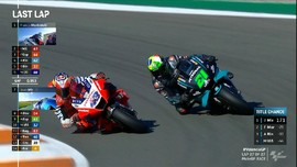 VIDEO: Duel Sengit Morbidelli vs Miller di MotoGP Valencia