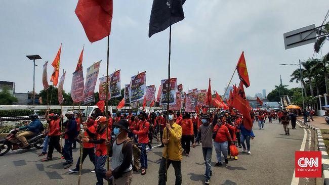 Massa buruh dari KASBI akan terus turun ke jalan mendesak Jokowi mengeluarkan perppu untuk membatalkan UU Ciptaker.