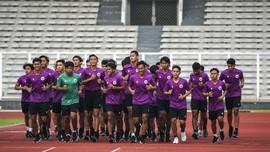 FOTO: Timnas Indonesia U-19 Geber Fisik di Jakarta