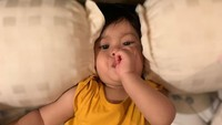 <p>Nah, si kecil Salima terlihat menggemaskan lho sejak usia beberapa bulan. (Foto: Instagram @salimaputritama)</p>