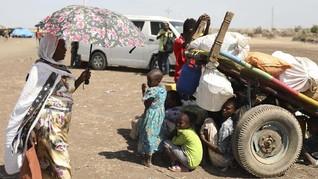 FOTO: Konflik Ethiopia, Ribuan Warga Mengungsi ke Sudan