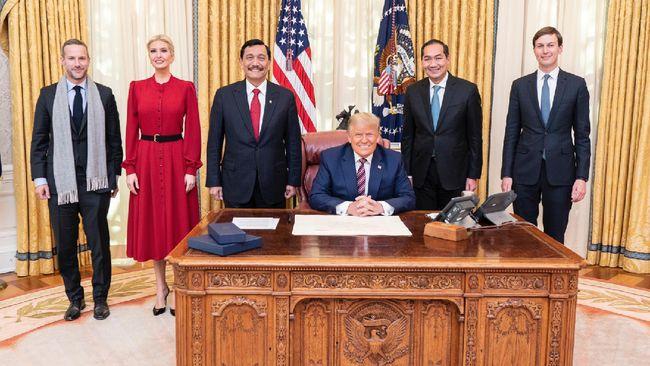 Pertemuan Menko Luhut dengan Presiden AS Donald Trump dan Wapres AS Mike Pence di AS menghasilkan sejumlah hal. Berikut rinciannya.