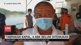 VIDEO: Tabrakan Kapal di Selat Lombok, 4 ABK Belum Ditemukan