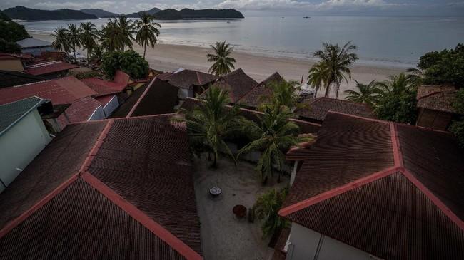 Pulau Langkawi, destinasi wisata bahari utama di Malaysia, terlihat kosong melompong akibat pembatasan perjalanan virus Corona yang ditetapkan pemerintah.