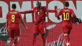FOTO: Lukaku Antar Belgia ke Semifinal UEFA Nations League