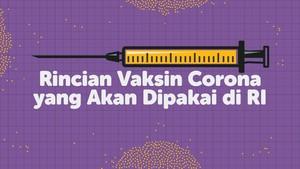 INFOGRAFIS: Rincian Vaksin Corona yang Akan Dipakai di RI