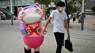 FOTO: Jepang dan Korsel Hadapi Lonjakan Kasus Harian Corona