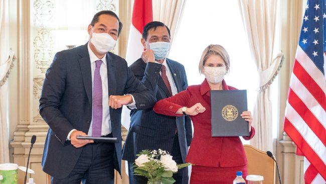 Indonesia dan Amerika Serikat menandatangani Nota Kesepahaman tentang pendanaan infrastruktur dan perdagangan senilai US$750 juta atau sekitar Rp10,5 triliun.
