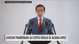 VIDEO: Jokowi Pamerkan UU Cipta Kerja di Acara APEC