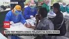 VIDEO: Rapid Test Peserta Konvoi Penjemputan Rizieq Shihab
