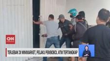 VIDEO: Terjebak di Minimarket, Pelaku Pembobol ATM Tertangkap