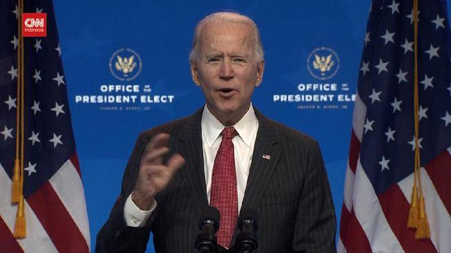 Presiden AS terpilih Joe Biden mendesak Donald Trump mengakhiri protes di gedung Kongres atas hasil pilpres.