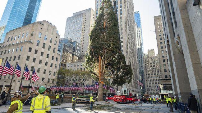 Dengan cabang-cabang yang bengkok, pohon natal di Rockefeller Center mendapatkan banyak ejekan dari pengguna media sosial.