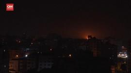 VIDEO: Militer Israel Serang Markas Hamas di Jalur Gaza
