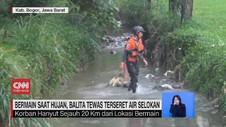 VIDEO: Bermain Saat Hujan, Balita Tewas Terseret Air Selokan