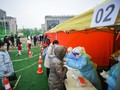 FOTO: China Gelar Tes Massal Usai Daging Impor Positif Corona