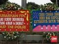 Karangan Bunga Banjiri Kodam Jaya, Ada dari Kaum Punk