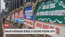 VIDEO: Banjir Karangan Bunga di Gedung Kodam Jaya