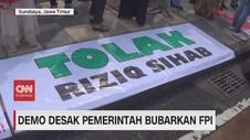 VIDEO: Demo di Surabaya Desak Pemerintah Bubarkan FPI