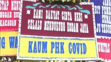 VIDEO: Markas Kodam Jaya Dibanjiri Karangan Bunga