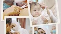 <p>Tiga bulan setelah kelahiran anak pertamanya, Dian Pelangi dan suami menggelar acara akikah untuk bayi mereka yang akrab dipanggil Baby Rumi. (Foto: Instagram: @dianpelangi)</p>