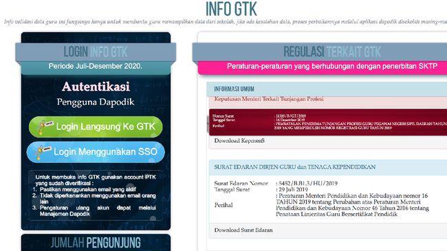 Info GTK bertujuan mengecek hasil verifikasi data sekaligus validasi penerima tunjangan sertifikasi. Berikut cara cek info GTK 2020 terupdate.