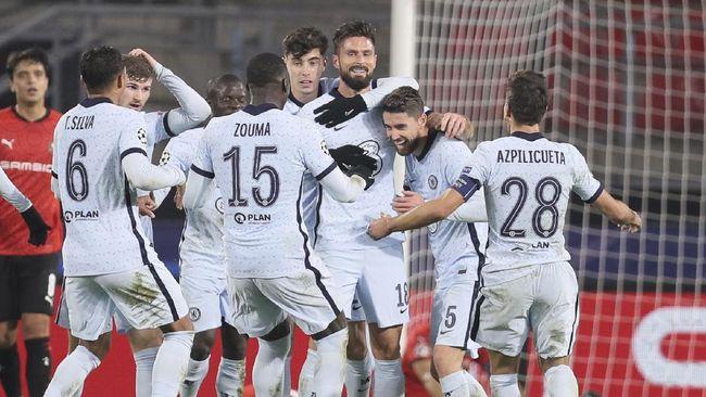 Chelsea lolos ke babak 16 besar Liga Champions usai mengalahkan Rennes 2-1 pada matchday keempat di Stadion Roazhon Park.