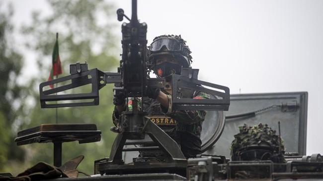 Sebanyak 3.123 prajurit yang tergabung dalam Brigade Tim Pertempuran TNI AD menggelar Latihan Antar Kecabangan TNI AD Kartika Yudha Tahun 2020.