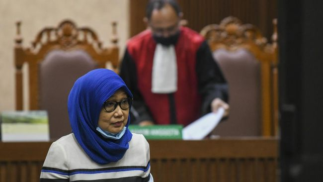 Anita Kolopaking membantah materi di dalam BAP yang dibacakan hakim soal action plan saat sidang terdakwa Andi Irfan Jaya terkait terpidana Djoko Tjandra.